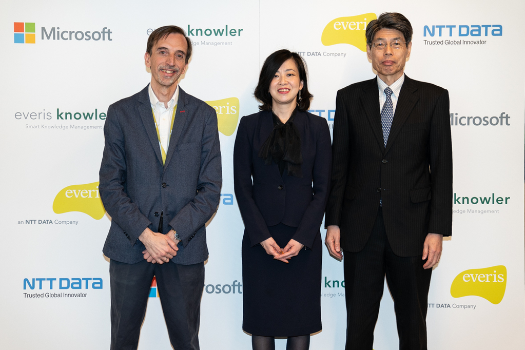 Carlos Galve, Partner Technology everis; Asako Yoshida, GAT Strategist; Tsuyoshi Kitani, CTO NTT Data